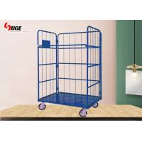 China Folding Steel Industrial Wire Mesh Trolley Coil Galvanized Logistics Vehicles on sale