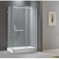 China Rectangular shining stainless steel shower enclosure 900*1200 with one sliding door and two fixed panels on sale