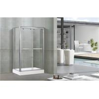 Bright Silver Aluminum Alloy Shower Stall Enclosures One Fixed Panel For Apartment / Hotel Manufactures