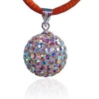 Buy cheap Fashion 925 Silver Crystal Ball Pendant from wholesalers