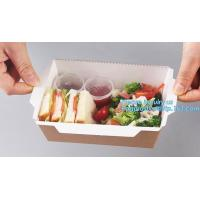 China Kraft Rose Luxury Packaging Paper Lunch Box For Bento Malaysia Disposable 3 Compartment Folding Fast Food Burger Creativ on sale