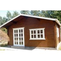 Small Pine Wood Outdoor Wooden Chalet Cabin House Without Paint Manufactures