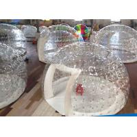 China PVC Transparent Crystal Inflatable Party Tent Dome Tent For Camping 0.55mm Thick on sale
