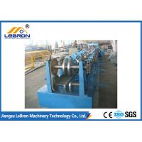 Blue Color C Z Purlin Roll Forming Machine No.45 Steel Coated With Chromed Treatment Manufactures