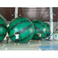 4m diameter watermelon Fruit Shaped Balloons Rainproof / Fireproof Manufactures