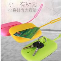 China High Quality Candy Color Silicone Wallet For Keys And Card Holder Wrap On The Shouldbag , Size 10*7CM on sale