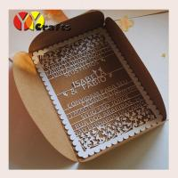 Floral lace wedding invitation card birthday card with laser cut wordings Manufactures
