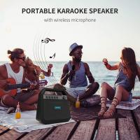 Buy cheap Rechargeable Karaoke Portable Bluetooth Speakers K10A Double Horn Pressure 24W from wholesalers