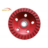 Cold Pressed Diamond Grinding Cup Wheels Single Row Red 105 - 250mm Diameter Manufactures