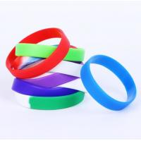 Promotional Silicone Rubber Bracelets , Custom Silicone Bracelets Colorful Manufactures