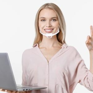 Hygiene Double Sided Fogging Prevention Transparent Plastic Face Mask Manufactures