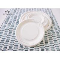 Round White Takeaway Food Containers / Tray 8oz - 40oz Water Resistant For Cafes Manufactures