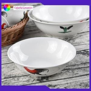 Vintage Porcelain 7 Inch Handmade Ceramic Bowls Customized Food Contact Safe