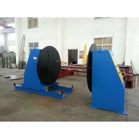 Head Tail Stock Welding Positioner , Welding Turn Table For Flange Elbow Welding Manufactures
