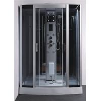Tempered Glass Rectangle Steam Shower Tub Combo With Computer Controlled Manufactures