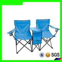 outdoor furniture two seat adjustable position folding camping chair with small table Manufactures