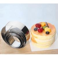 Food Grade Adjustable Cake Mold , Small Baking Ring Molds For Cake Layer Slicer Manufactures