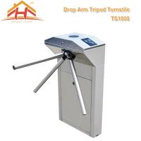 Biometric Drop Arm Tripod Turnstile Gate RFID Reader And SUS304 Stainless Steel Manufactures