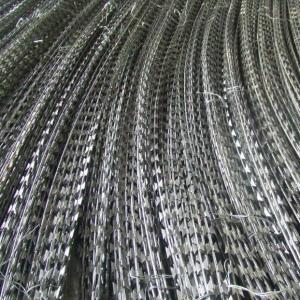 Anti Corrosion Concertina Razor Wire , High Protection Galvanized Razor Wire Manufactures