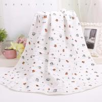 Buy cheap Custom Muslin Cotton Wrap Bamboo Fabric Baby Swaddle Blankets With Warped Knitting from wholesalers