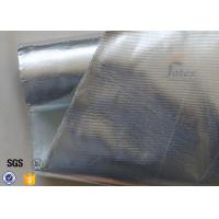 Quality Fire Resistant Aluminium Foil Fiberglass Fabric Silver 880g 550℃ 0.9mm for sale