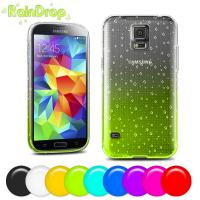Soft Tpu cell phone covers for samsung s5 , Raindrop design mobile phone covers