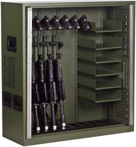 10 Gun Cabinet Double Door Heavy Duty Storage Locker , Heavy Duty Metal Storage Cabinet Manufactures