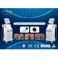 White Rf Skin Tightening Machine Anti - Aging Adjustable Energy With Five Handles