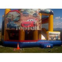 PVC Racing Car Inflatable Water Jumping Castle 5 x 5m Digital Printing With Slide Manufactures