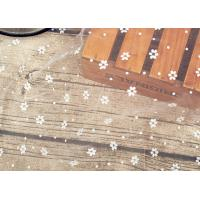 Wedding Bridal Nylon Lace Fabric / Nylon Netting Fabric With Small Dot Flowers Manufactures