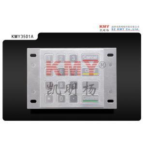 Waterproof Digital ATM Machine Keypad USB Number Pad PIN IP65 Metal Manufactures