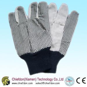 cotton gloves pvc dots,pvc dotting glove knit wrist Manufactures