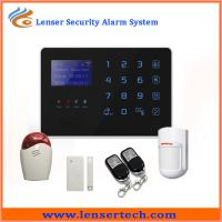 Quality SMS remotely control Android app Support multi-language home security gsm alarm system for sale