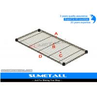Light Duty Commercial Chrome Wire Shelving / Stainless Steel Wire Rack Customized Size Manufactures
