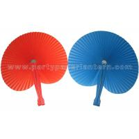 China Round Paper Folding Fans , Beautiful Hand Held Accordion Paper Fans Party Favor on sale