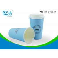 China Large Size 16oz Disposable Paper Cups Of Single Cardboard 90x60x134mm on sale
