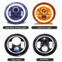 High Lumen Round Jeep Wrangler Headlights With Halo Ring Angel Eyes Manufactures