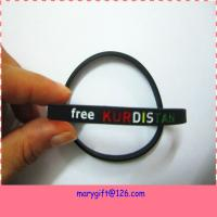 Quality hot promotion silicone personalized bangle non-toxic supply for sale