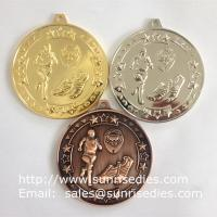China Zamak sports running medals, China sport medal supplier for metal running medals on sale