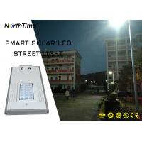 China 2018 New Design 1900lm 30W Panel Solar Powered LED Street Garden Light with Phone APP on sale