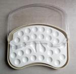 Dental porcelain  Mixing Slab (  Plate),28 Slots , having plastic Cover& Bottom Manufactures