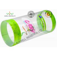 Cylinder Design Stationery PET Plastic Packaging Boxes With Cute Catoon Printing Manufactures