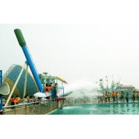 Custom 12.5m Cannon Ball Steel Pool Water Slides For Water Park Equipment Manufactures