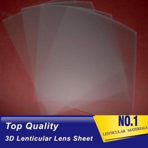 161 Lpi 51X71CM Lenticular Lens Film 0.25mm PET 3D Sheet Lenticular Lenses material for 3d lenticular printing service Manufactures