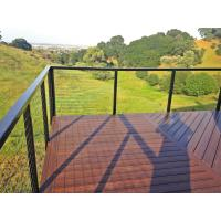Black Stainless steel inox railing cable railing with top handrail for terrace/ deck Manufactures
