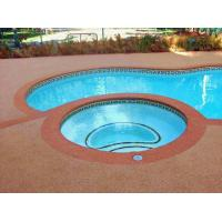 Environment Friendly Rubber Flooring Around Swimming Pool Heat Resistance Manufactures