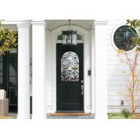 Good Apperance Entry Door Replacement Glass Frame Heat And Sound Insulation