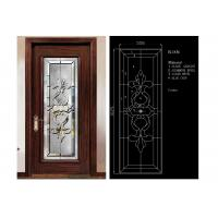 Classical Color Door Art Glass Panels Thermal Sound Insulation Various Shape Manufactures