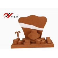 Shop Counter Microfiber Jewellery Props Display Khaki Color Simple Design Manufactures