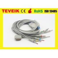 China Kenz ECG cable with integrated 10 leadwires,banana 4.0,IEC,DB15pin, Compatible With Kenz ECG 108 / 110 / 1203 on sale
